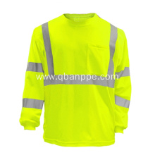 100%Polyester Reflective Security Hi Vis Safety Shirt